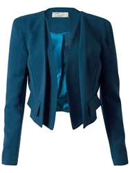Closet Faux Pocket Jacket Teal