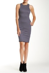Iris Striped Sheath Dress Blue