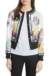 Ted Baker London Olyviaa Tranquility Woven Jacket White