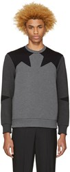 Neil Barrett Grey Star Pullover