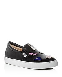 Moschino Embellished Slip On Sneakers Black