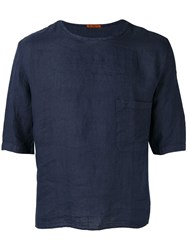 Barena Half Sleeve Pocket T Shirt Blue