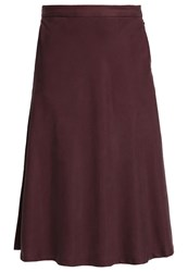 Selected Femme Sfmassia Aline Skirt Puce Dark Red