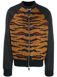 Just Cavalli Embroidered Bomber Jacket Black