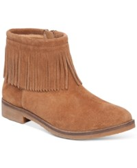 Lucky Brand Women's Galley Fringe Booties Women's Shoes Honey