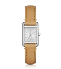 Michael Kors Taylor Silver Tone And Leather Watch
