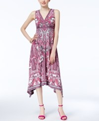 Inc International Concepts Handkerchief Hem Midi Dress Only At Macy's Swirl Romance