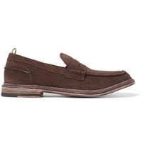 Officine Creative Durham Suede Penny Loafers Brown