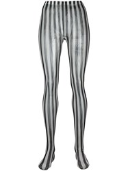 Dolce And Gabbana Striped Tights Black
