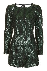 Wyldr All Night Long Green Playsuit By Multi