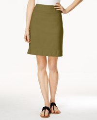 Charter Club Pull On Skort Only At Macy's Green Tea