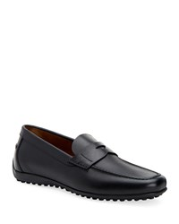 Aquatalia By Marvin K Robby Leather Loafers Black