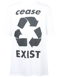 Faith Connexion 'Cease Exist' Printed T Shirt White