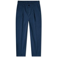 Albam Garment Dyed Ripstop Pleated Trouser Blue