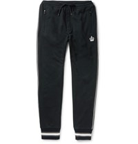 Dolce And Gabbana Slim Fit Loopback Cotton Jersey Sweatpants Navy