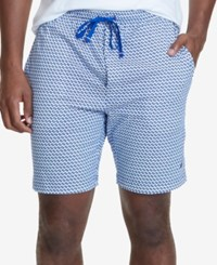 Nautica Men's Geometric Print Pajama Shorts Blue