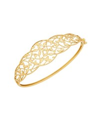 Lord And Taylor Richline 14K Yellow Gold Leaves Design Bangle
