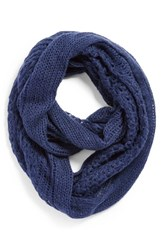 Junior Women's Bp. Pointelle Infinity Scarf Blue Navy
