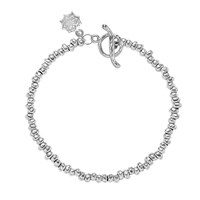 Dower And Hall Sterling Silver Nomad Nugget Bead Bracelet Silver