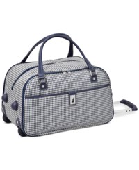London Fog Oxford Hyperlight 19 Wheeled International Club Bag Only At Macy's Navy Houndstooth