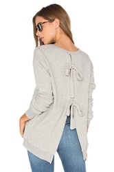 Wilt Tie Back Sweatshirt Gray