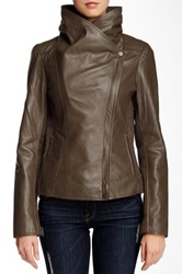 7 For All Mankind Genuine Leather Jacket Green