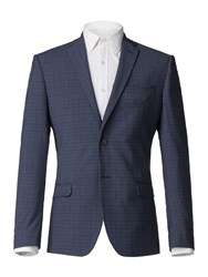 Limehaus Bowery Blue Check Jacket Blue