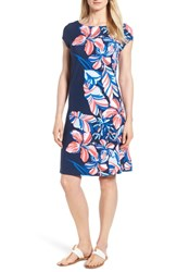 Tommy Bahama Le Tigre Floral Cap Sleeve Dress Ocean Deep
