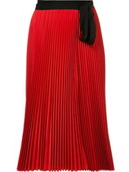 Tome 'Pleated Wrap' Skirt Red