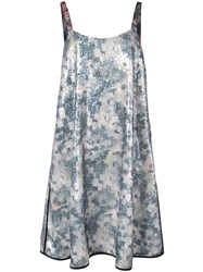 Harvey Faircloth Sequined Short Dress Blue