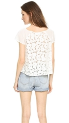Bb Dakota Sidonia Lace Back Tee Ivory