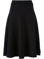 Alexander Wang T By Pleated Knee Length Skirt Black
