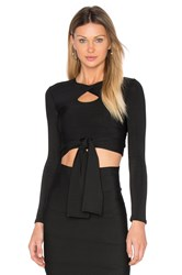 Lolitta Sophia Long Sleeve Crop Top Black