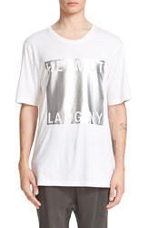 Helmut Lang Men's Foil Graphic T Shirt