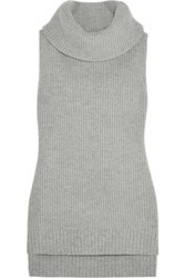 Michael Michael Kors Merino Wool And Cashmere Blend Turtleneck Top