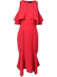 Yigal Azrouel Cold Shoulder Dress Red