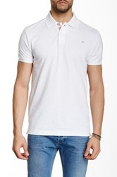 Micros Regular Fit Short Sleeve Polo White