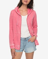 Roxy Juniors' Sunkissed Moment Graphic Zip Front Hoodie Pink