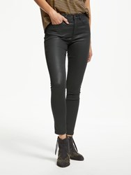 And Or Coated Highrise Skinny Jeans Black