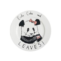 Jimbobart 'Eats Cake And Leaves' Side Plate