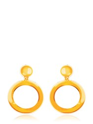 Moschino Hoop Printed Neoprene Clip On Earrings
