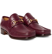 Gucci Horsebit Leather Loafers Burgundy