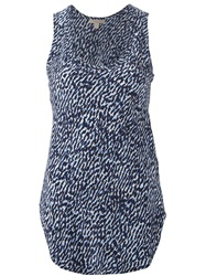 Burberry Brit Animal Print Tank Top Blue