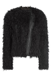 Zadig And Voltaire Faux Fur Jacket Black