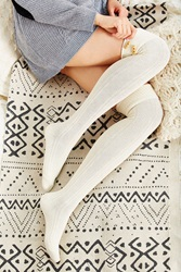 Urban Outfitters Toggle Cuff Over The Knee Sock Neutral
