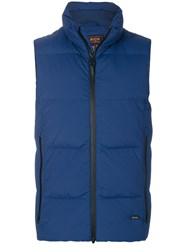 Woolrich Padded Gilet Feather Down Polyamide Spandex Elastane S Blue