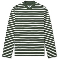 Barbour Long Sleeve Lanercost Tee White Label Green