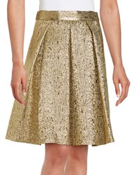 Eliza J Metallic A Line Skirt Gold