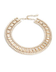 Rj Graziano Goldtone And Crystal Collar Necklace