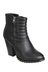 Refresh Laura Ribbed Bootie Black